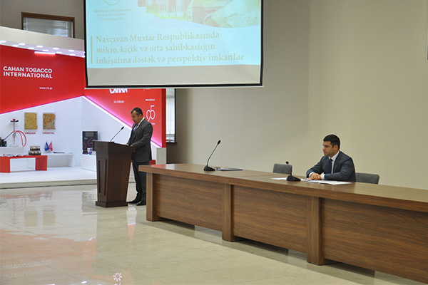 A meeting with representatives of SMBDA was held at the Nakhchivan Confederation of Entrepreneurs